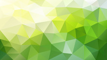 Vector Abstract Irregular Polygonal Background - Triangle Low Poly Pattern - Yellow Green Color