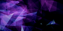 Abstract Purple Triangles Back...