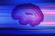 Leinwanddruck Bild - human brain, concept of thinking