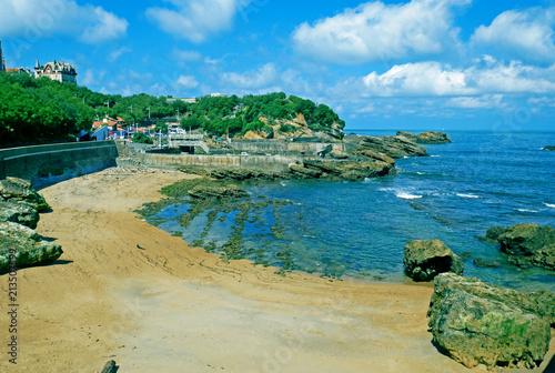 Grande Plage beach in Biarritz, France.