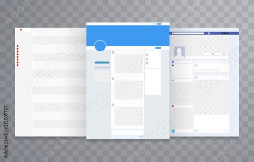 Obraz Website layout template vector - fototapety do salonu