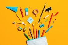 School Supplies And Pencil Cas...