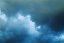 Dark Stormy Sky. The Dark Blue...