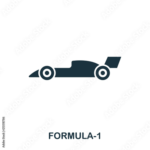Formula 1 icon. Premium style icon design. UI. Illustration of formula 1 icon. Pictogram isolated on white. Ready to use in web design, apps, software, print.