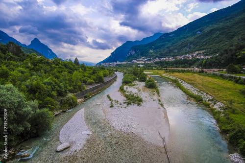 Foto op Aluminium Oceanië Alpine landscape with the image of Piave river