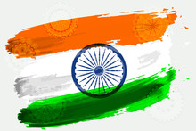 Vector Flag Of India In The St...