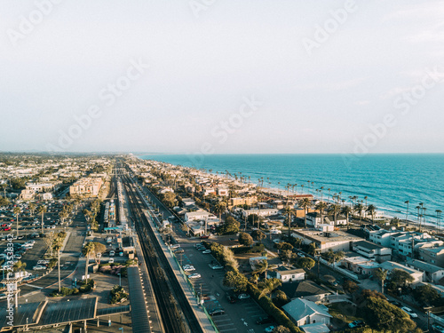 Canvas Print Coastal City