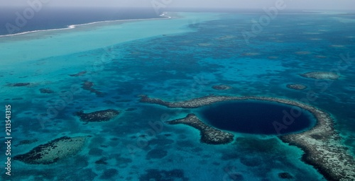 Aerial Photography Blue Hole, Belize Canvas Print