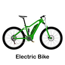 Electric Bike Vector Illustrat...