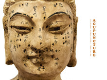 Ancient Wooden Female Face Sho...