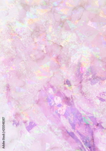 Abstract Holographic Background Glossy And Bright Texture In