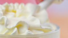 Swirls Of Whipped Cream, Macro...