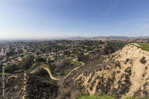 Fotografia, Obraz View of Porter Ranch neighborhood in the San Fernando Valley portion of Los Angeles, California