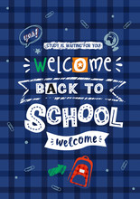 "Vector Comic Poster ""back To School"", Lettering"