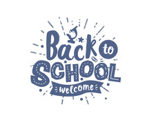 "Vector Inscription Lettering ""back To School"""