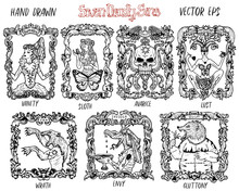 Set With Seven Deadly Sins Con...