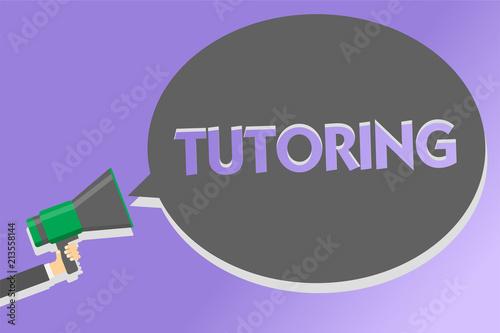 Fotografie, Obraz  Text sign showing Tutoring