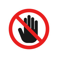 Dont Touch Sign. Vector.