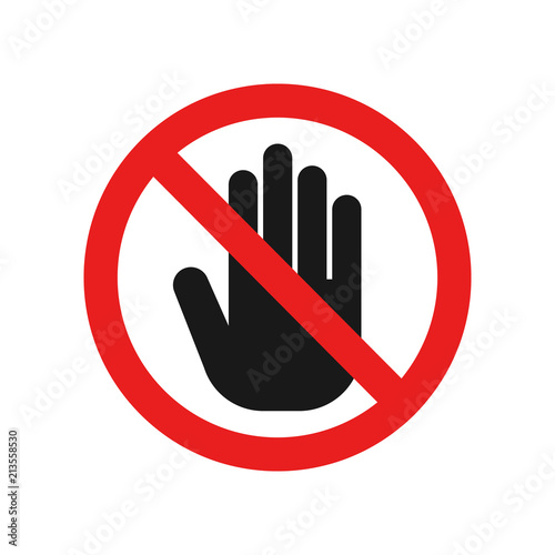 Cuadros en Lienzo Dont touch sign. Vector.