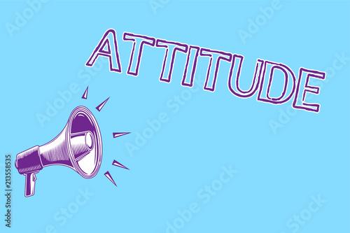 Fotografía  Word writing text Attitude