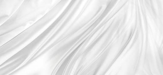 Biała jedwabna tkanina