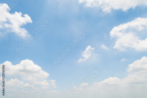 Canvas Print clouds white soft in the vast blue sky