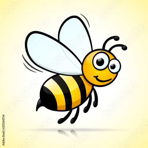 bee design on white background Fototapet