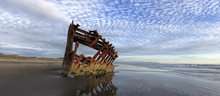 Panorama Of Peter Iredale Ship...