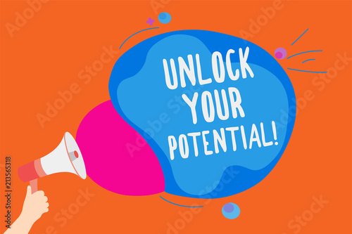 Writing note showing Unlock Your Potential Canvas Print