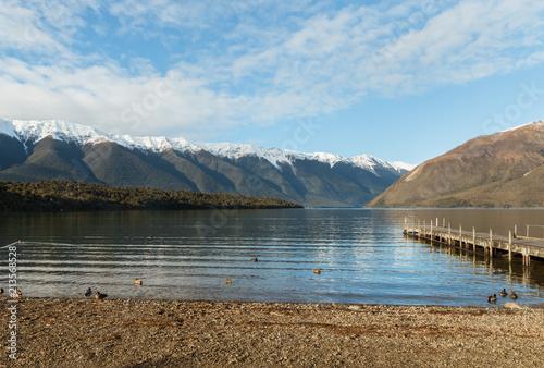 Photo Lake Rotoiti with Saint Arnaud Range in winter, Nelson Lakes National Park, Sout