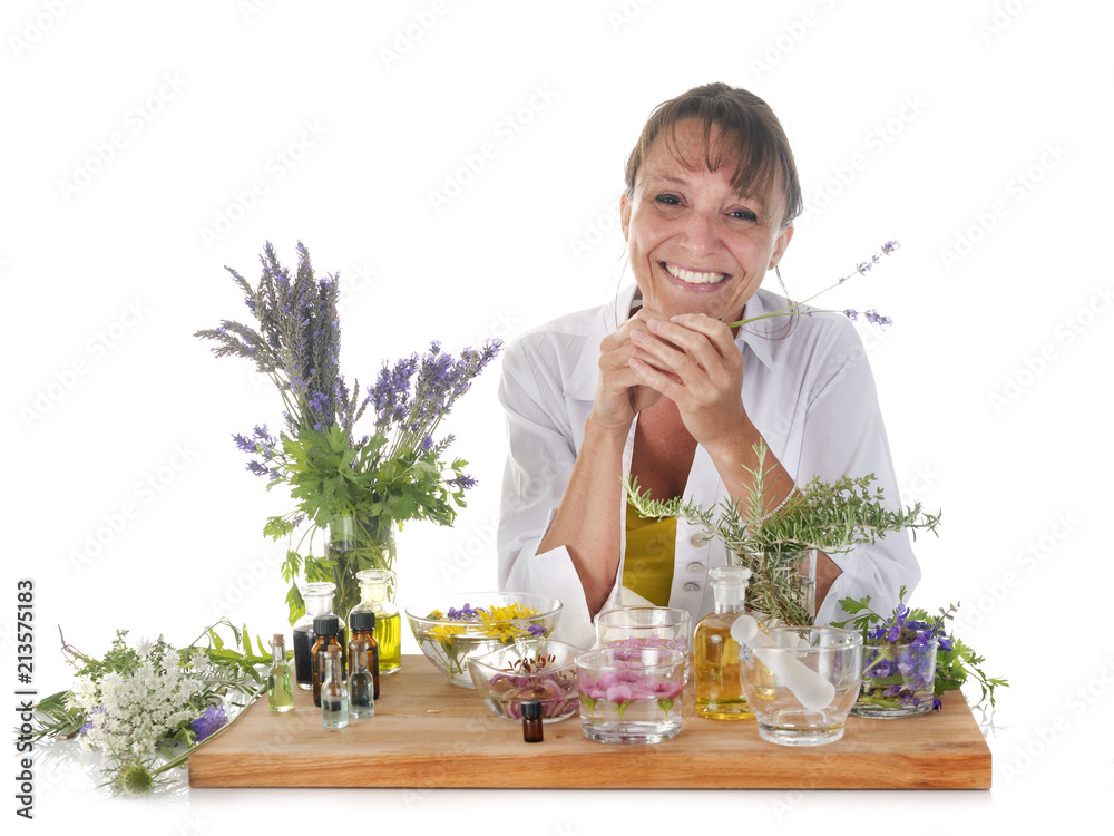 Fototapety, obrazy: woman and essential oils