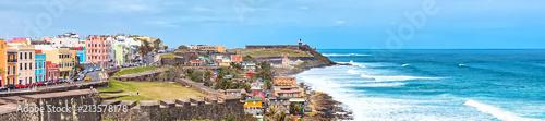 Fotografia  Panorama of San Juan, Puerto Rico Coastline