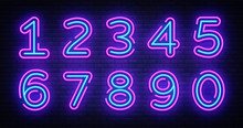 Number Symbols Collection Neon...