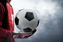Soccer Goalkeeper Holding Socc...