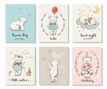Cute Cards With Little Bear, V...