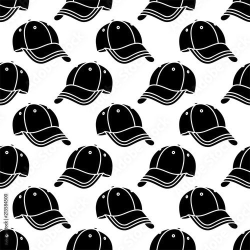 Photo  Baseball Cap Icon Seamless Pattern