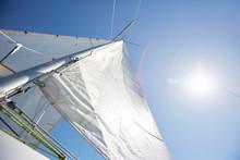 Below View Of White Textile Sa...