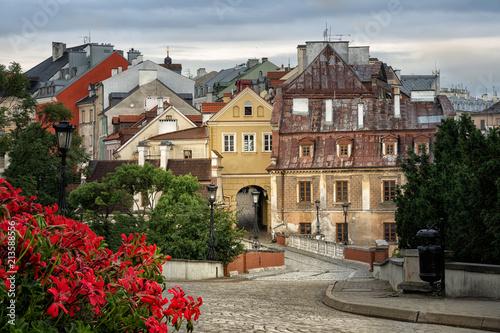 Obraz Widok starego miasta w Lublinie, Polska - fototapety do salonu