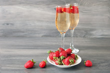 Strawberries And Champagne In ...