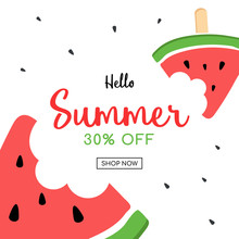 Summer Sale And Cute Watermelo...