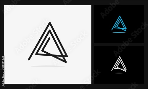 Fotomural A triangle geometric logo