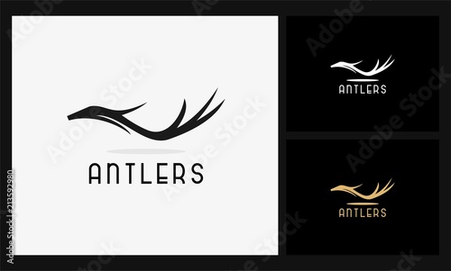 Lerretsbilde abstract antlers icon logo