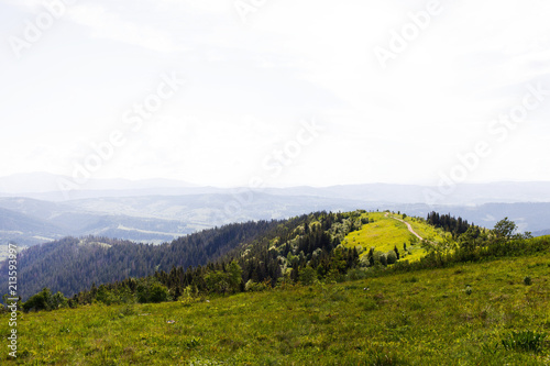 Foto op Aluminium Wit Nice mountains view at sunny day .