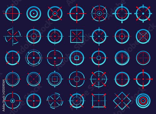 Slika na platnu Creative vector illustration of crosshairs icon set isolated on transparent background