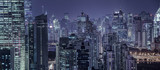 Fototapeta Nowy Jork - building exterior and cityscape in Shanghai at night