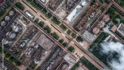 aerial view of alumina factory Canvas Print