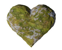 Moss Covert Grey Stone Heart, ...
