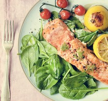 Grilled Salmon Food Photograph...