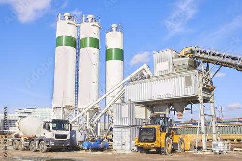 Fototapeta Cement factory at sunny day obraz