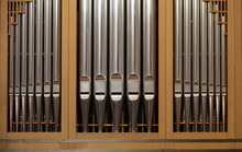 Old Antique Church Organ Pipes